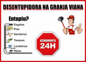 Desentupidora na Granja Viana