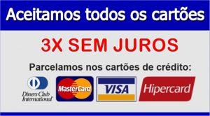 Aceitamos todos os Cartões de credito